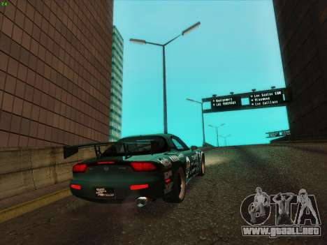 Mazda RX7 rEACT para GTA San Andreas vista posterior izquierda