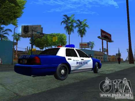 Ford Crown Victoria Belling State Washington para GTA San Andreas vista posterior izquierda