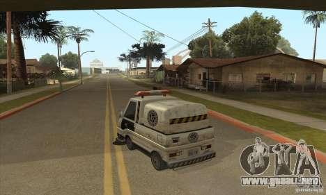 Barrendero de trabajo para GTA San Andreas segunda pantalla