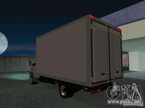 33102 Valday GAZ (largo) para GTA San Andreas vista posterior izquierda