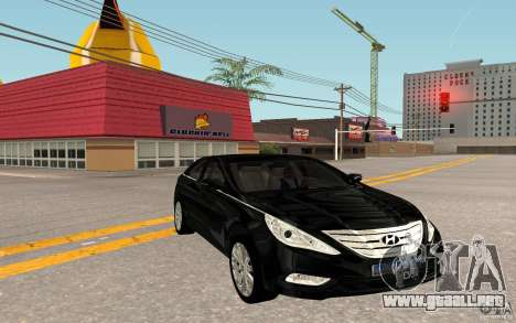 Hyundai Sonata 2012 para GTA San Andreas vista posterior izquierda