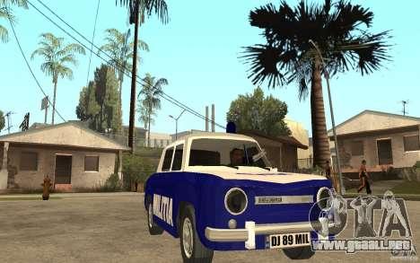Dacia 1100 Militie para GTA San Andreas vista hacia atrás