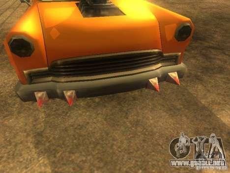 Crazy CABBIE para GTA San Andreas vista posterior izquierda