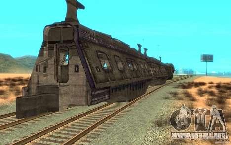 Un tren desde el juego Aliens vs Predator v1 para la visión correcta GTA San Andreas