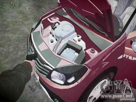 Dacia Sandero Stepway para GTA 4 vista desde abajo