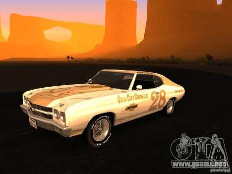 Chevrolet Chevelle SS 1970 v.2.0 pjp1 para visión interna GTA San Andreas