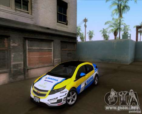 Chevrolet Volt 2012 Stock para vista inferior GTA San Andreas