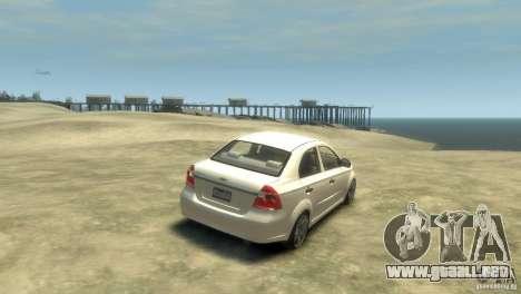 Chevrolet Aveo 2007 para GTA 4 visión correcta