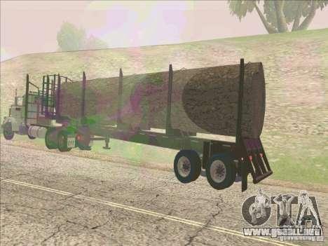 Trailer, Peterbilt 379 para GTA San Andreas vista posterior izquierda