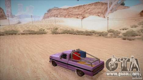 Ford F100 XLT Custom 1971 para vista inferior GTA San Andreas