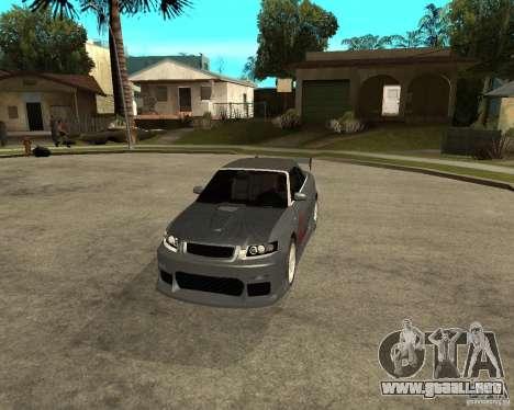 AUDI A4 Cabriolet para visión interna GTA San Andreas