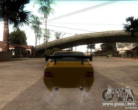 VAZ 21099 coche Tuning para GTA San Andreas vista posterior izquierda