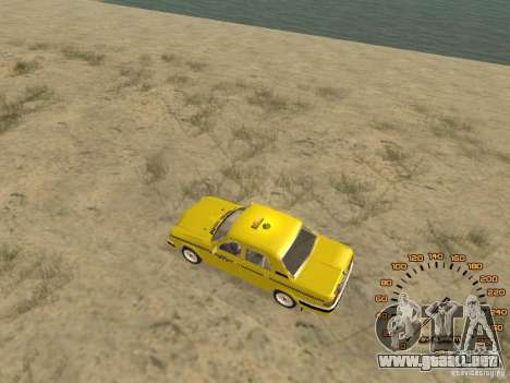 Gaz-31105 taxi para GTA San Andreas vista posterior izquierda