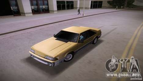 Ford Mustang GT 1993 para GTA Vice City vista interior