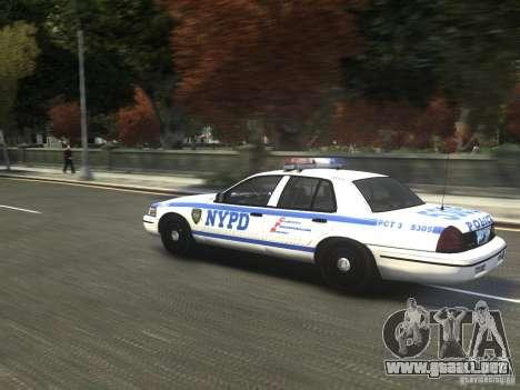 Ford Crown Victoria NYPD 2012 para GTA 4 Vista posterior izquierda