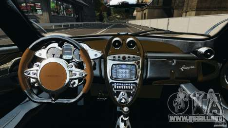 Pagani Huayra 2011 v1.0 [EPM] para GTA 4 vista hacia atrás