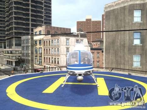 Bell 206 B - NYPD para GTA 4 visión correcta