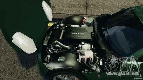 Pontiac Solstice 2009 para GTA 4 vista hacia atrás