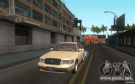 Ford Crown Victoria para vista lateral GTA San Andreas