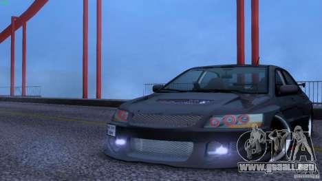 Mitsubishi Lancer Evolution 8 Drift para GTA San Andreas vista hacia atrás