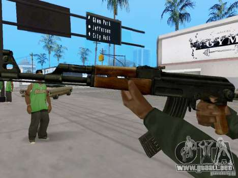 AKC - 47 HD para GTA San Andreas segunda pantalla
