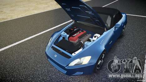 Honda S2000 2002 v2 para un paseo reservado para GTA 4 vista desde abajo