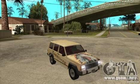 Jeep Cherokee 1984 para GTA San Andreas vista hacia atrás