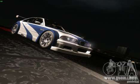 BMW M3 GTR para vista inferior GTA San Andreas