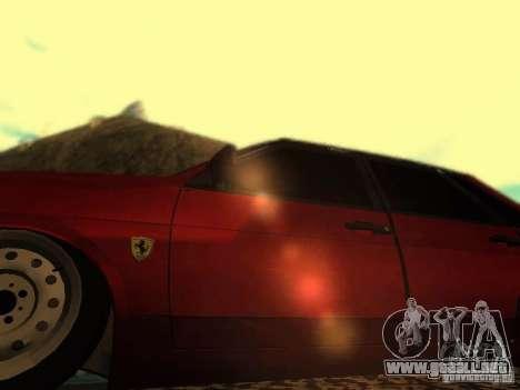 Vaz 21099 Ferrari para GTA San Andreas vista hacia atrás