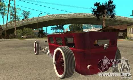 HotRod sedan 1920s no extra para GTA San Andreas vista posterior izquierda