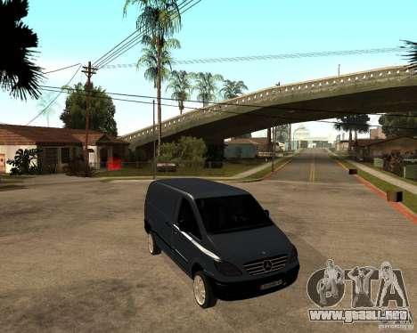 Mercedes-Benz Vito 2009 para la visión correcta GTA San Andreas