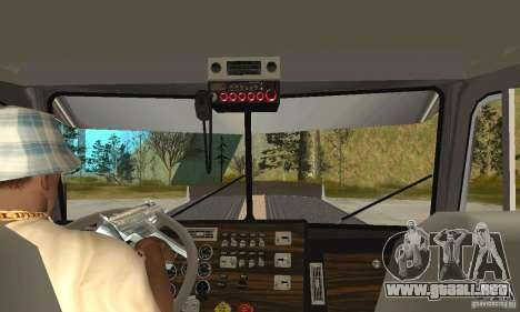 Peterbilt 379 Custom Legacy para visión interna GTA San Andreas