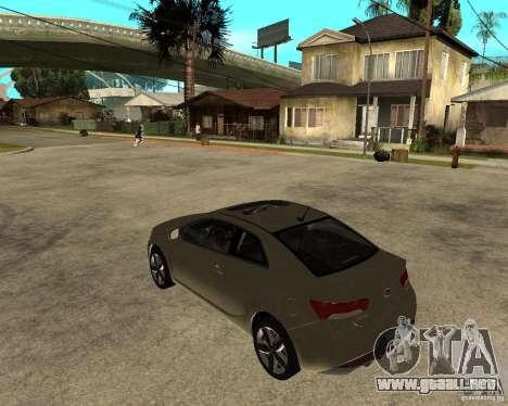 KIA Forte Coup para GTA San Andreas left