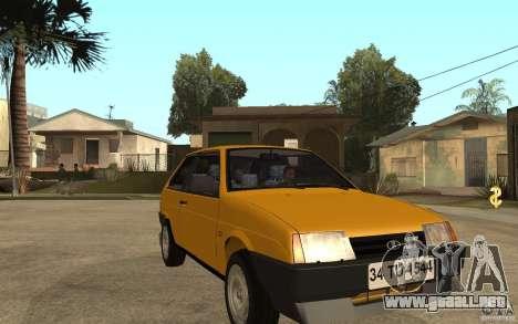 VAZ Lada Samara 2108 Sport para GTA San Andreas vista hacia atrás