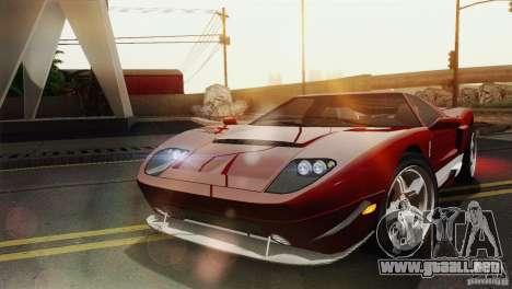 Bullet GT from TBOGT para GTA San Andreas vista posterior izquierda