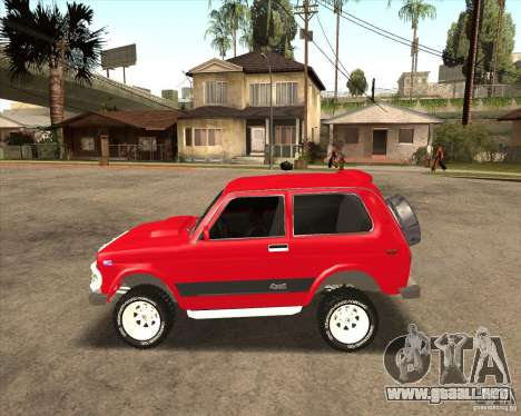 VAZ 21213 4 x 4 para vista inferior GTA San Andreas