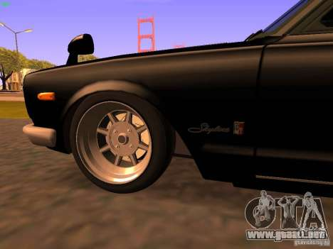 Nissan Skyline 2000GTR para vista lateral GTA San Andreas