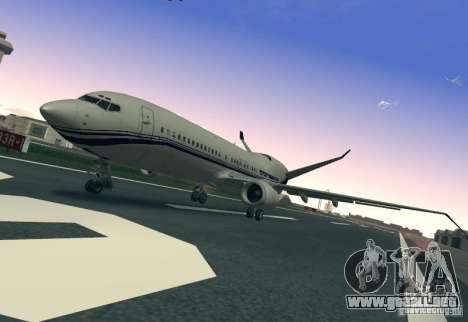 Boeing 737 Iron Man Bussines Jet para GTA San Andreas