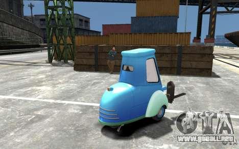 Guido de Cars Mater-National para GTA 4 visión correcta