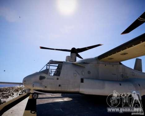 Osprey MV-22 para GTA 4 Vista posterior izquierda