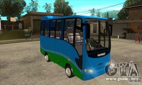 Iveco Eurocity para GTA San Andreas vista hacia atrás