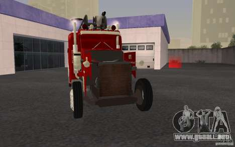 Peterbilt 379 Fire Truck ver.1.0 para vista inferior GTA San Andreas