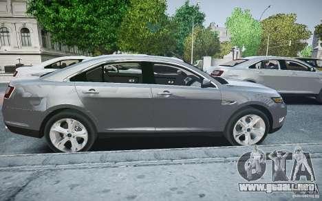 Ford Taurus SHO 2010 para GTA 4 left