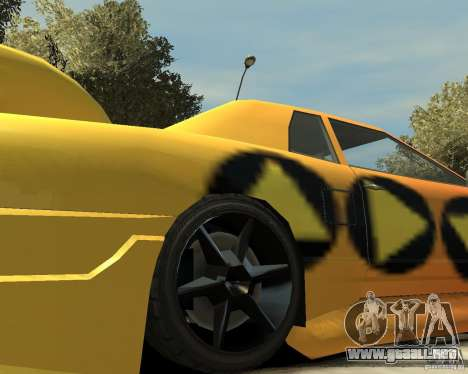 Elegy Tuning para GTA 4 vista hacia atrás