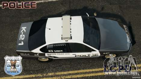 LCPD K9 Unit para GTA 4 visión correcta