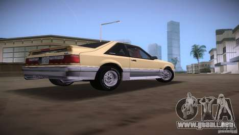 Ford Mustang GT 1993 para GTA Vice City vista posterior