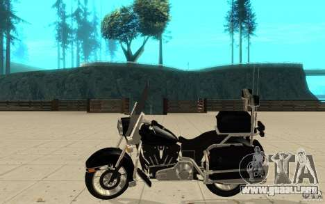 GTAIV TBOGT PoliceBike para GTA San Andreas left
