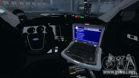 Ford Explorer NYPD ESU 2013 [ELS] para GTA 4 vista hacia atrás