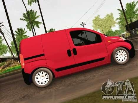 Peugeot Bipper para GTA San Andreas vista hacia atrás