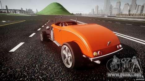 Hot Rod para GTA 4 Vista posterior izquierda